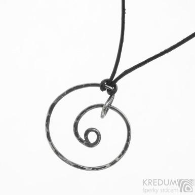 Spirála - stříbrný přívěsek s patinou - SK3790