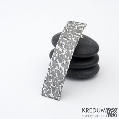 KinderLinka archeos - základ 5 cm, šíře 9 mm - Nerezová spona do vlasů