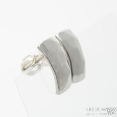 Kované dámské nerezové náušnice - Moon Skalák, lesklé - SK3736