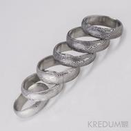 Snubní prsten damasteel Prima - dřevo