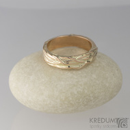 Zlatý snubní prsten - Gordik Red Gold - vel. 50, šíře 4 mm - lesklý