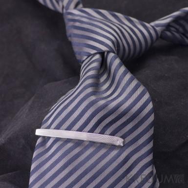 Adamas a čirý diamant 1,5 mm - Kovaná spona na kravatu damasteel - dřevo