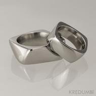 Kovaný nerezový snubní prsten - Kumali nerez