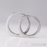Kovaný prsten damasteel - Cleans - dřevo - bez kamene