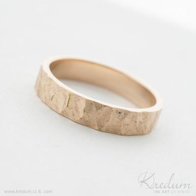RAW gold red - zlatý snubní prsten - SK3932