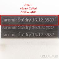 Šrafovaně - ukázka fontu č. 1 - Calibri