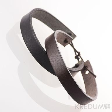 Kožený náramek - Manus 10 černý
