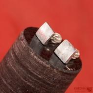 Kované damasteel náušnice - Quatro mini