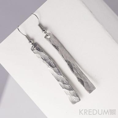 Kované damasteel náušnice - Klimb natura
