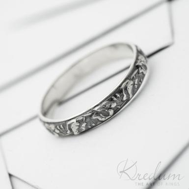 Retro snubní prsten 6 Lípa stříbro s patinou - SK3809
