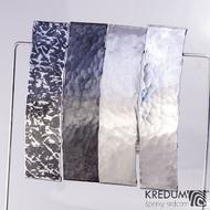 Tepaná nerezová spona do vlasů - Linka varianty povrchu - Archeos - černá - matná - lesklá