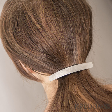Kovaná damasteel spona do vlasů - Smooth Holde