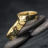 Golden Draill yellow - Zlaté snubní prsteny