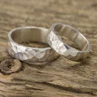 Stříbrné snubní prsteny Draill silver (5)