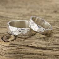 Stříbrné snubní prsteny Draill silver (6)