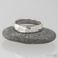 Stříbrný prsten Draill silver; vel.51,5; šíře 4,5 mm