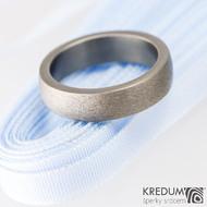 Prsten kovaný - Klasik titan - hrubý mat