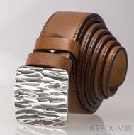 Kožený pásek 3X s prošitím + spona, typ Kant - ilustrační foto