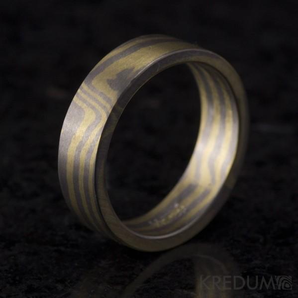 Mokume - zlato, palladium