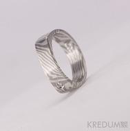Mokume gane - stříbro, palladium+diamant 2mm (3)
