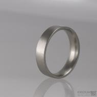 Kovaný nerezový snubní prsten - Klasik matný, profil C