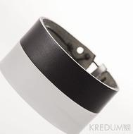 Kožený náramek - Manus 20 Steel S černý