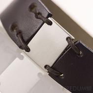 Kožený náramek - Manus 20 Steel L hnědý