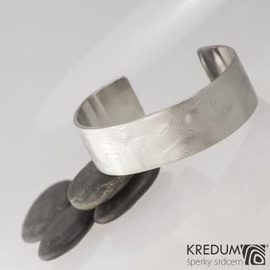 Kovaný damasteel náramek - Helland