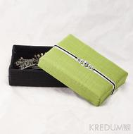 Krabička potažená hedvábím - zelená