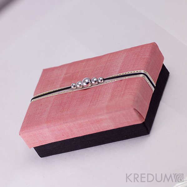 Krabička potažená hedvábím - růžová