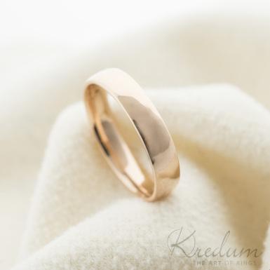 Prima gold red - zlatý snubní prsten