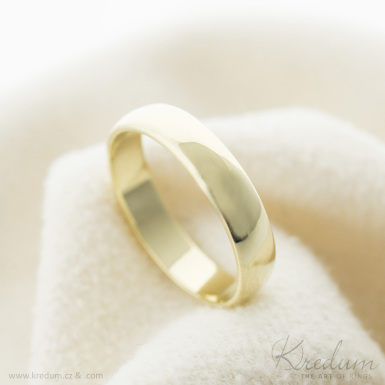 Prima gold yellow lesk - Zlatý snubní prsten