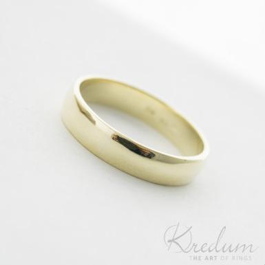 Prima gold yellow - zlatý snubní prsten - 3929