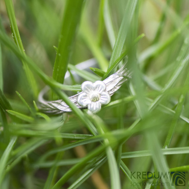 Motaný snubní prsten nerezový - Gordik Flower