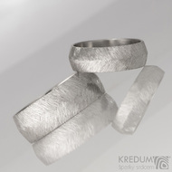 Kovaný nerezový snubní prsten - Klásek