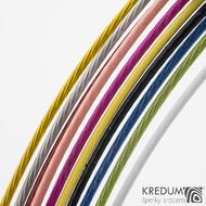 Modré nylonové lanko s ocelovou strunou - šroubovací uzávěr