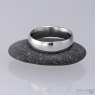Kovaný nerezový snubní prsten - Klasik, lesk - profil D