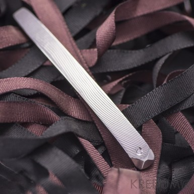 Adamas a diamant 1,5 mm - Kovaná spona na kravatu damasteel, KS1108