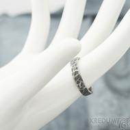 Archeos - velikost 56, šířka 4,2 mm, tloušťka 1,4 mm - nerezové snubní prsteny - sk1968 (2)