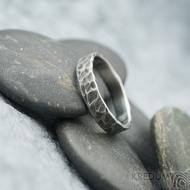 Archeos - velikost 56, šířka 4,2 mm, tloušťka 1,4 mm - nerezové snubní prsteny - sk1968 (3)