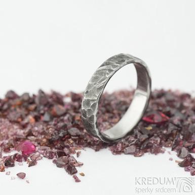 Archeos - velikost 56, šířka 4,2 mm, tloušťka 1,4 mm - nerezové snubní prsteny - sk1968 (4)