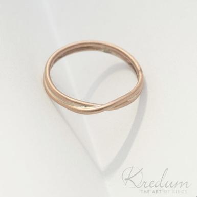 Bend gold red - zlatý snubní prsten