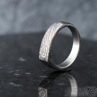 Cleans a čirý diamant 1,7 mm - velikost 54, šířka 5,5 do dlaně 4 mm, voda - lept extra - Damasteel snubní prsteny - k 1347 (4)