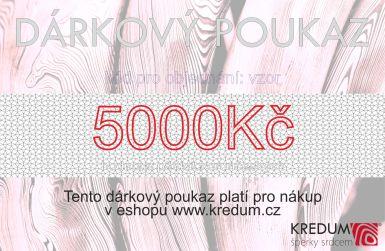 Dárkový poukaz v hodnotě 5000 Kč