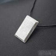 Desk - Kovaný přívěsek z nerezové oceli damasteel, SK1803 (2)