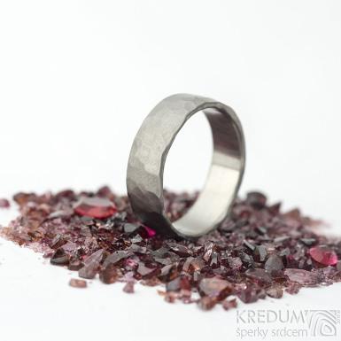 Draill titan matný - kovaný prsten, velikost 56,5; šířka 6 mm - produkt SK2063
