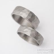Draill titan - šířka 5,5 a 7 mm, matný - Titanové snubní prsteny