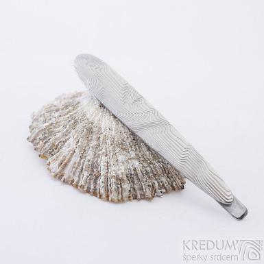 Eliot - Kovaná spona na kravatu damasteel, SK2339 (4)