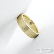 Golden draill yellow - velikost 48, šířka 5 mm, tloušťka 1,2 mm, matný - Zlaté snubní prsteny - k 1777 (6)