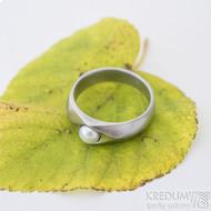 Gracia steel matný bílá perla, nerezový zásnubní prsten - sk2428 (7)